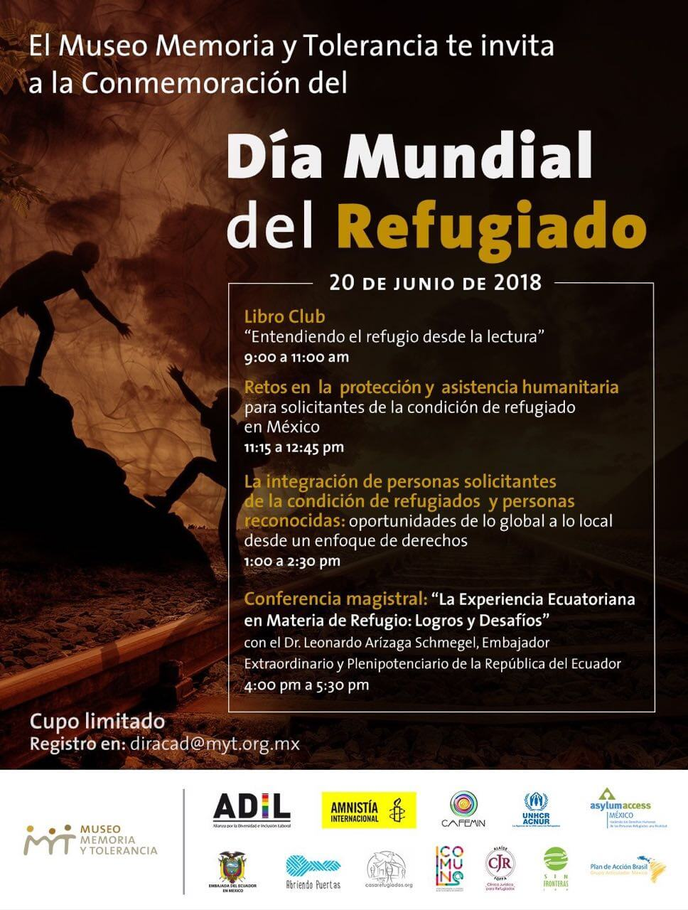 El Museo Memoria y Tolerancia te invita a la Conmemoración del Día Mundial del Refugiado